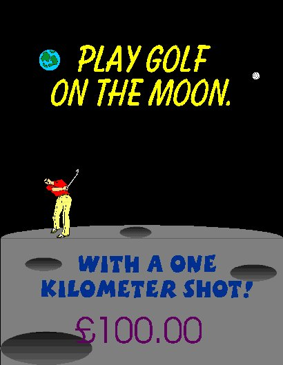 Play Golf on the Moon